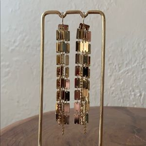 Anthropologie gold chandelier earrings